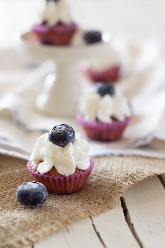 Receta Cupcakes de Arándanos y Vinagre Balsámico